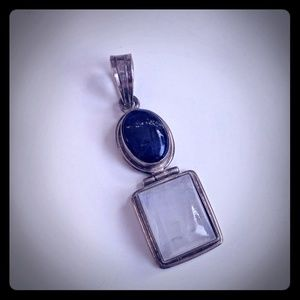 Jewelry - Sterling silver lapis lazuli moonstone pendant